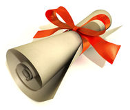 Present gift voucher Stock Photo
