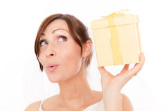 Present gift woman Stock Photo