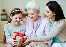 Present for girl Stock Image