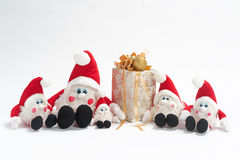Present and gnomes Royalty Free Stock Images