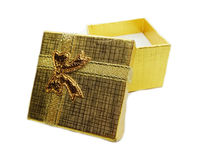 Present gold box gift concept Royalty Free Stock Photos
