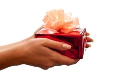 Present in hands Stock Photography