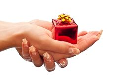 Present in hands Royalty Free Stock Image