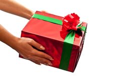 Present in hands Stock Image