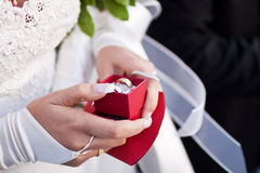 Present in hands stock images
