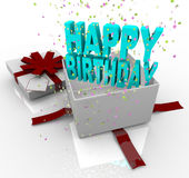 Present - Happy Birthday Gift Box Stock Image