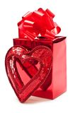Present with heart Royalty Free Stock Photo