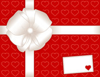 Present, Hearts, Gift Card Stock Photo