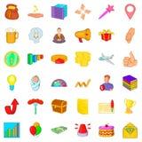 Present icons set, cartoon style Stock Photo