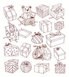 Present icons. vector illustration. Royalty Free Stock Images