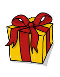 Present illustration; Gift box with ribbon drawing Royalty Free Stock Photography