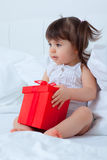Present kid Royalty Free Stock Image
