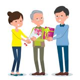 Present for loved ones_Aged`s Day Grandpa Royalty Free Stock Photos