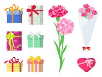 Present for loved ones_gift set Stock Images