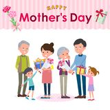 Present for loved ones_mother`s Day family Royalty Free Stock Photography