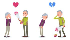 Present for loved ones_old man invited old woman Royalty Free Stock Image