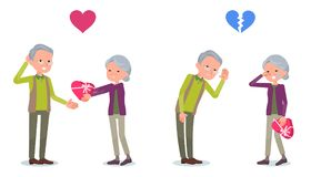 Present for loved ones_old woman invited old man Royalty Free Stock Photo