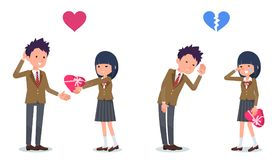 Present for loved ones_School girl invited School Boy Royalty Free Stock Images