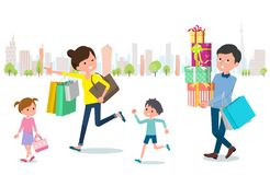 Present for loved ones_Shopping with family Royalty Free Stock Photos