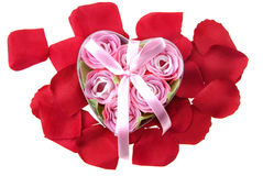 Present made of roses Royalty Free Stock Photography
