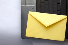 Present mail on keyboard Stock Images