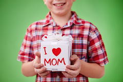 Present for mother royalty free stock photo