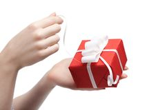 Present opening Stock Images