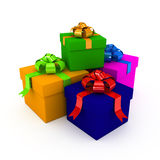 Present over white background Royalty Free Stock Images