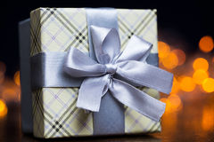 Present package and garlands Stock Photography