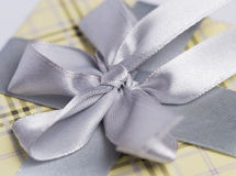 Present package and garlands Royalty Free Stock Image