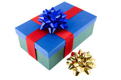 Present packed with bow Stock Photography