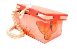 PRESENT AND PEARLS Stock Image