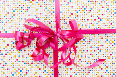 Present with pink ribbon Royalty Free Stock Photo