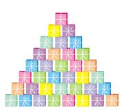Present pyramid royalty free illustration
