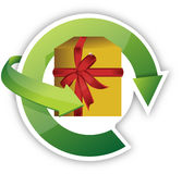 Present recycle Stock Image
