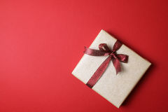 Present on red background - Series 4 Royalty Free Stock Image