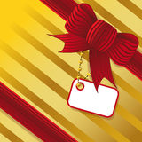 Present with red bow Royalty Free Stock Photography