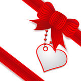 Present with red bow. Illustration present's decoration with red bow, valentine's day Stock Photo