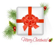 Present with red bow. Stock Photos