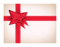 Present with red ribbon Royalty Free Stock Photography