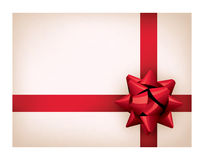 Present with red ribbon Stock Photos