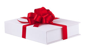The present with red ribbon Royalty Free Stock Image