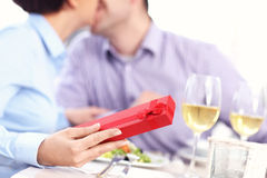 Present in a restaurant Stock Photography