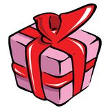 Present and ribbon Royalty Free Stock Image