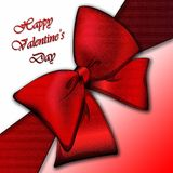 Present's decoration with red bow Royalty Free Stock Photo
