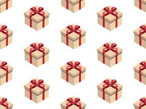 Present seamless pattern. Isometric gift box. Pattern seamless vector illustration. Concept background picture Stock Photo