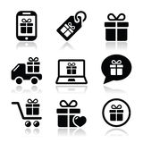 Present, shopping  icons set Stock Photo