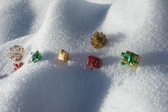 Present in the snow Stock Image