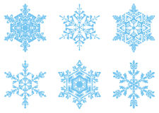 The present snowflakes Stock Photos