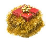 Present som slås in i glitter royaltyfri foto